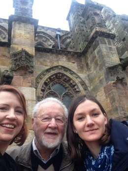 A trip to his family chapel, Rosslyn, with Bill and Caroline, winter 2016.