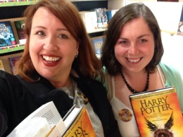 Lara and me at the midnight launch of the new Harry Potter script in July.